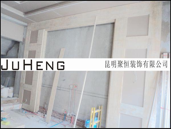 木工客厅电视墙图片-福心小区36 3韩女士施工档案