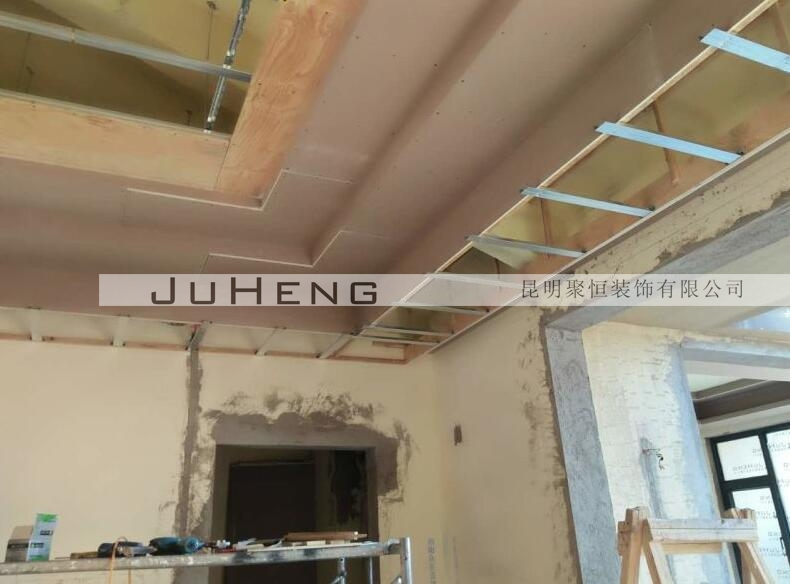进行3楼卫生间吊顶、斜顶做防水-熙和小镇D52 1 蒋师家施工日志